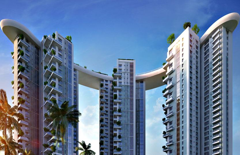 3 - 4 BHK, Siddha Sky, EM Bypass | Kolkata Properties : kolkataproperties.in For Sale or Rent