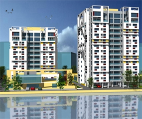 4 BHK Flat  at Sunny Fort, Newtown