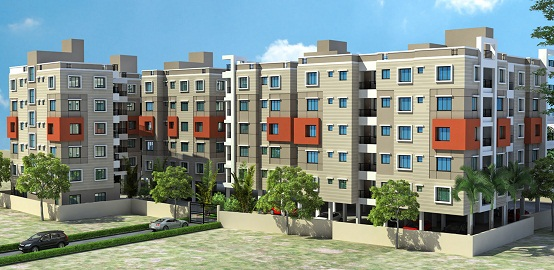 2 BHK Flat  at Green Residency, Kaikhali